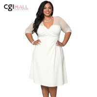 2016 Sexy White Plus Size XXL Sugar and Spice Office