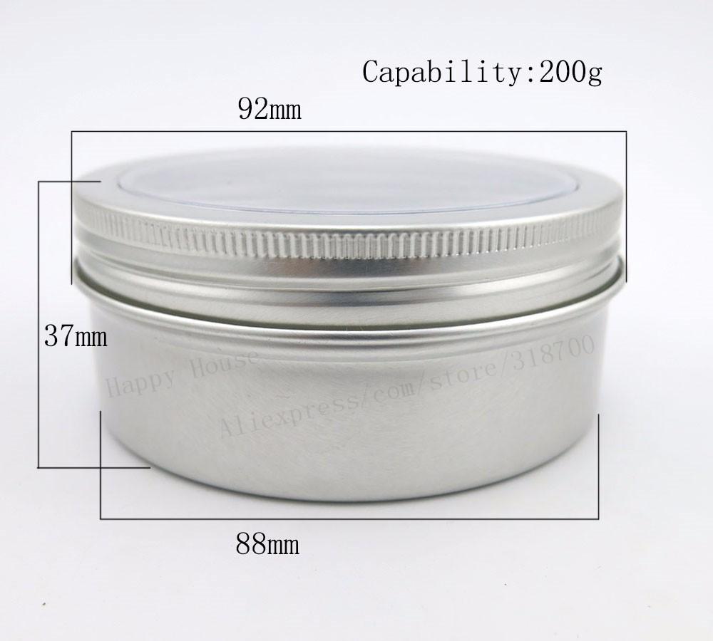 ᐊ30x200g contenedor de aluminio con ventana, 200g metal estaño ...