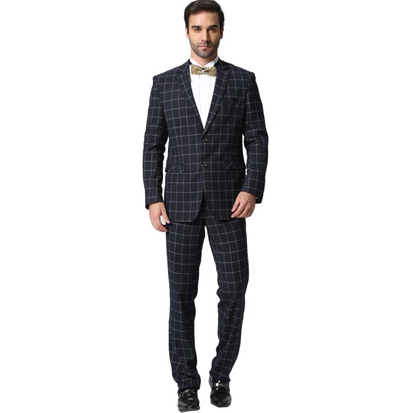 Jacket Pants Men Plaid Suits 2016 Fashion Brand Designer Business Casual Slim Fit Homme 2