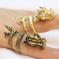 Fashion Chinese dragon rings, Gold plated dragon rings for ...
