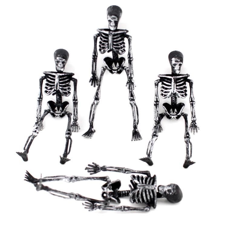 2014 Halloween Party Decorations Bar Props 4PCS Skeleton