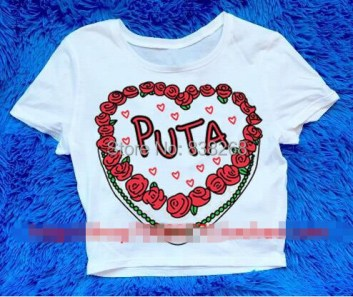 2015 new women tshirt American street style harajuku PUTA letters printed tight Slim T shirt women tops-in T-Shirts from Women's Clothing & Accessories on Aliexpress.com | Alibaba Group