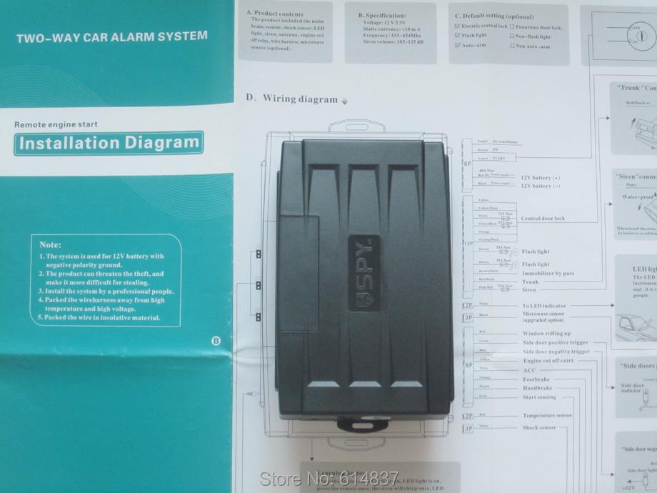 spy 5000m alarm/remote start install diy