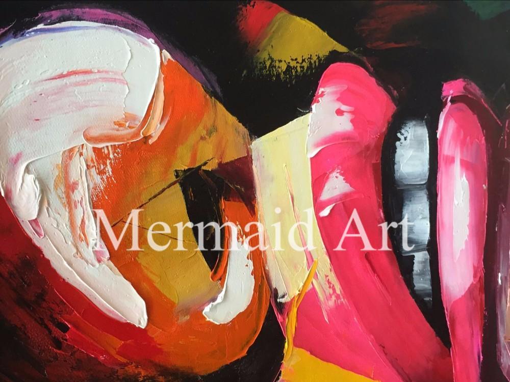 ⑤Hand Painted Palette knife portrait Cool Face Art Ana et Dom ...