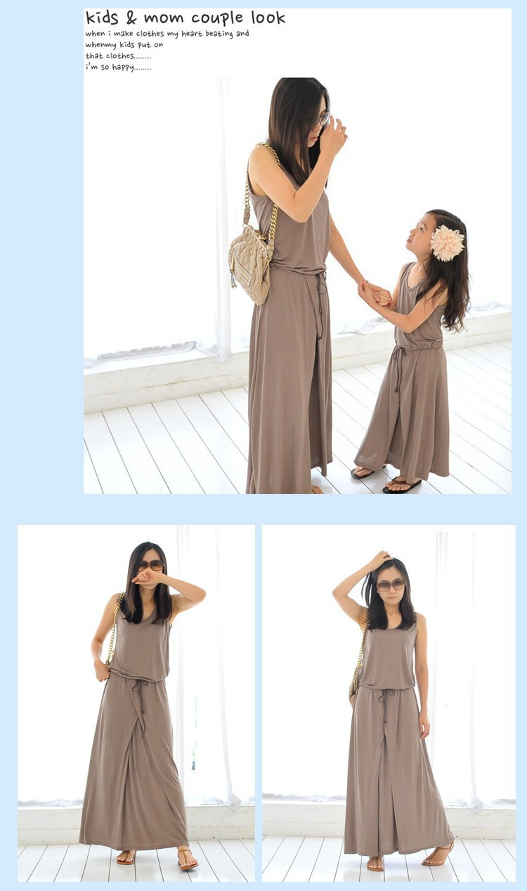 Matching Mother And Daughter Dresses 2018 New Summer Family Liana Dress Muslim Beige Our Are Of High Quality The Material Is Modal It Very Comfortable Breathable
