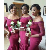 Popular Wine Colored Bridesmaid Dresses-Buy Cheap Wine ...