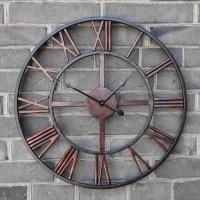 Buy 2016 Oversized Vintage Wrought Iron Wall Clock Large ...