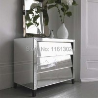 MR 401023 Beveled edged mirrored night stand/ side table ...