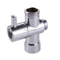 "2016 Chrome 3 way Shower Head Diverter Valve G1/2"" Three"