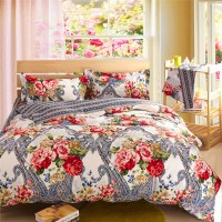 silver bedding sets floral comforter sets cheap bed linen