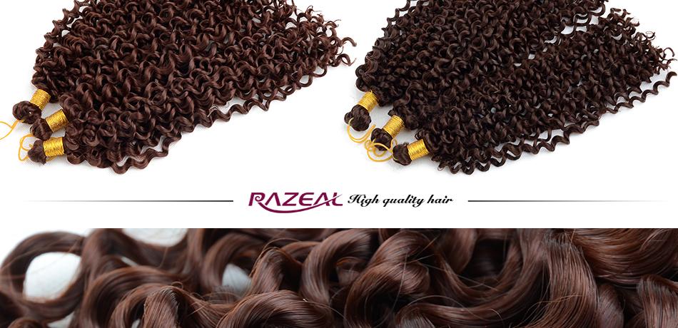 ∞4 packs Razeal rizado trenzas ganchillo 14 inch trenzar la ...