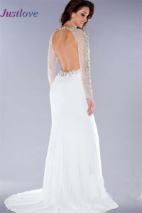 Winter White Long Formal Dresses _Formal Dresses_dressesss