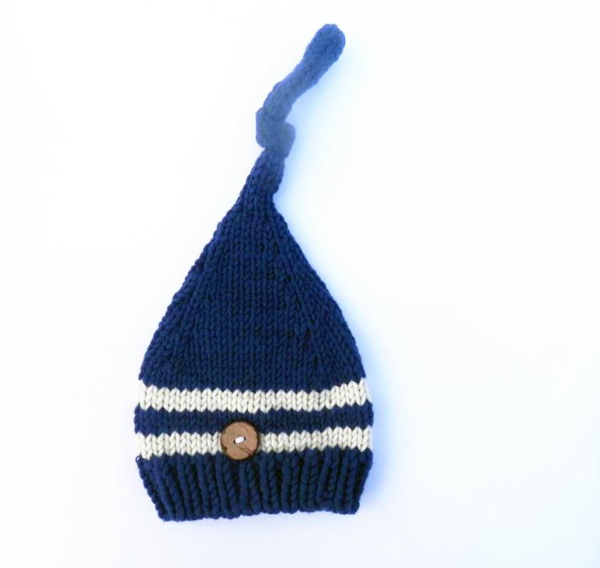 ᗚNuevo tejido a mano del duende del bebé sombrero, sombrero recién ...
