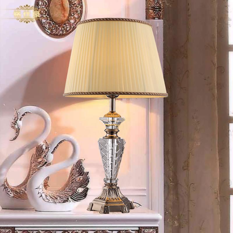 European luxury style crystal table lamp bedroom