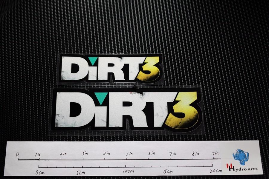 ᗑ TD003 Dirt3 Jogo de Corrida Reflexivo Etiqueta Do Carro ... ed33a9a70a