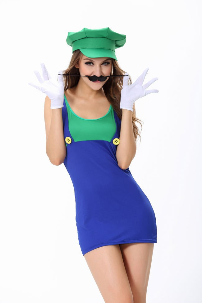 Super Mario Halloween Costumes For Men Fancy Dress Party Dresses