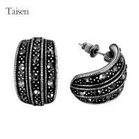 Ladies Jewelry bohemian Black Earrings Vintage tibetan CZ ...