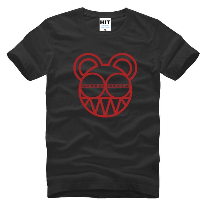 b35fc15b03e7d Mens Men Radiohead Rock Music T Shirt Tshirt Fashion 2016 New Short Sleeve  O Neck Cotton T-shirt Tee Camisetas Hombre
