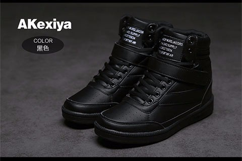 21095a442fd892 Akexiya New 2017 spring autumn ankle boots heels shoes women casual shoes  height increased high top shoes for adults SIZE 35-40