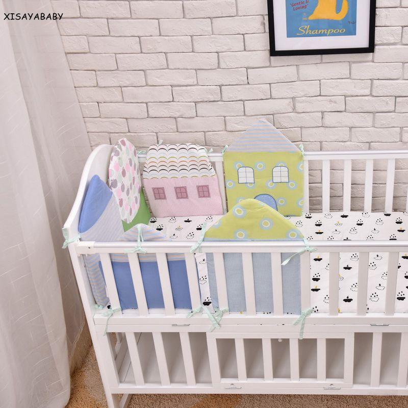 Minimalisme Lit Bebe Pare Chocs 3 Macaron Couleurs Noeud Conception