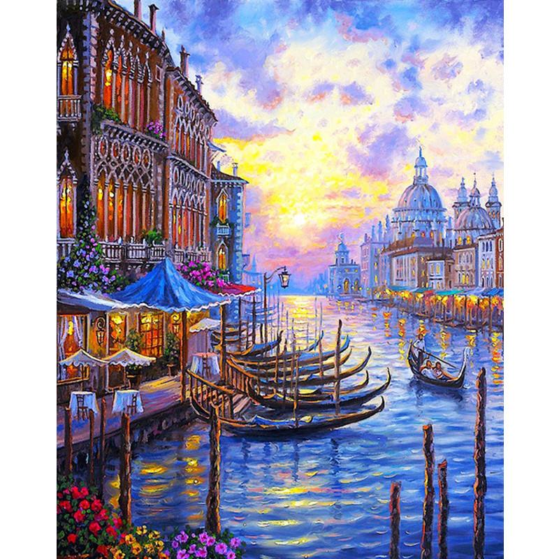 ⊰DIY Цифровая живопись маслом по номерам краски рисования ...