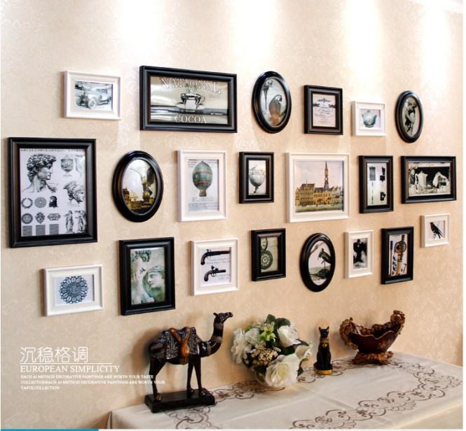 8pcs Set Home Decor Wall Frames House Picture