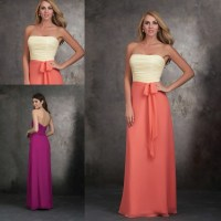 Bridesmaid Dresses Two Tone - High Cut Wedding Dresses