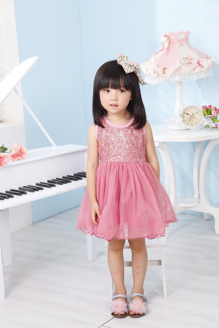 Longitud de la rodilla lentejuelas tutú vestido para niña niños vestido ...