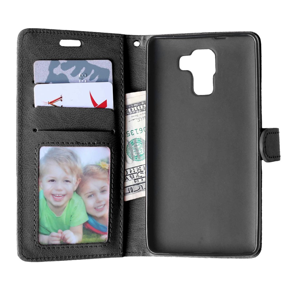 a47de415c2478 ②Designlife Odwróć PU Leather Wallet Case Stoiska dla Huawei Honor ...