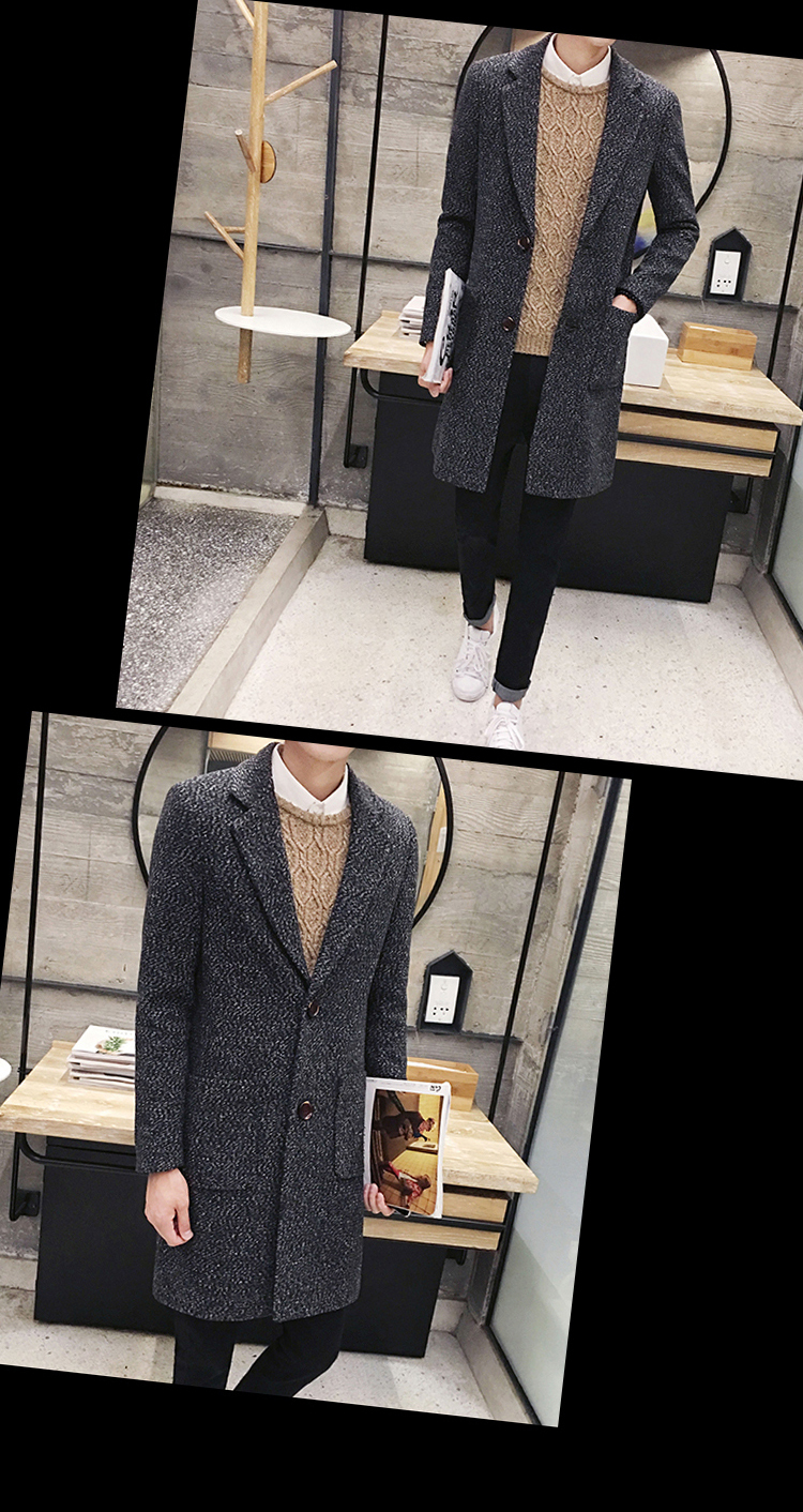 2018 Men Fall Wool Coat In The Long Winter Thick Woolen Comport Carpet Karpet Mercy B200 Deluxe 12cm Click Here Trench Man Fashion Gown