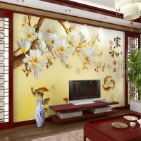 Modern Flower Wall Murals Chinese Large Mural Wallpaper ...