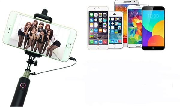 סלפי סטיק קווי חדרגל יוקרה באיכות גבוהה עבור Iphone סמסונג גלקסי
