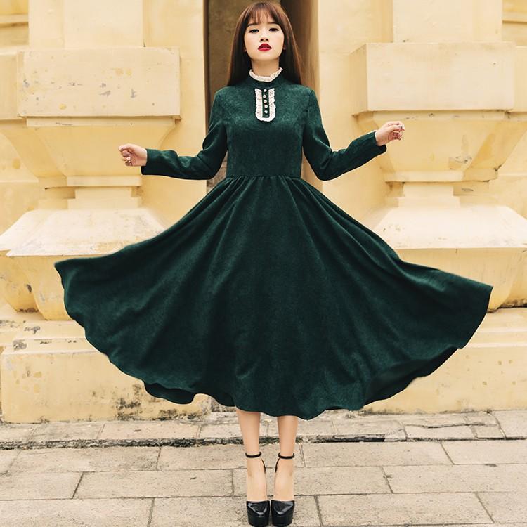 Nueva moda 2018 otoño terciopelo de las mujeres BIG SWING casual ... 875372fe9eb9