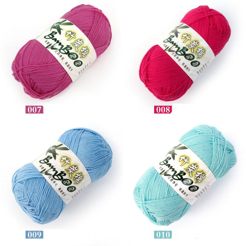 ⊹70% de fibra de bambú 30% algodón hilos de tejer a mano anti ...