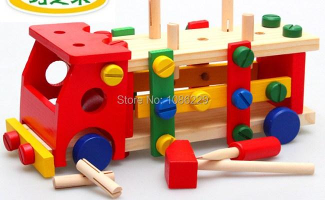 High Quality Children Wooden Toys Assemble Wooden Car