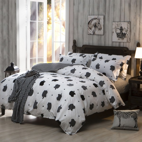 Bedding Sets Cheap Polyester Cotton Bed Sheet Set King Queen Full Size Comforter Bedcover