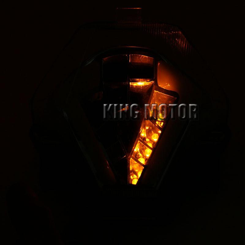 Ocamo LED Tail Light Brake Turn Signal Integrated Led Lamp for YAMAHA MT-09 FZ09 13-17 gray
