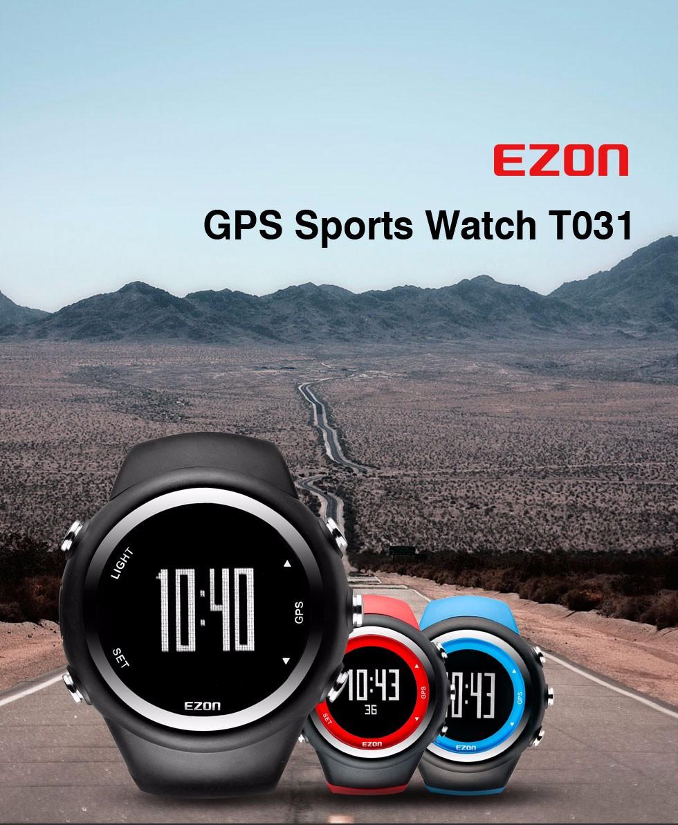 Top Marke Ezon T031 Wiederaufladbare Gps Timing Uhr Laufen Fitness Sport Uhren Kalorien Zähler Abstand Tempo 50 M Wasserdichte Digitale Uhren
