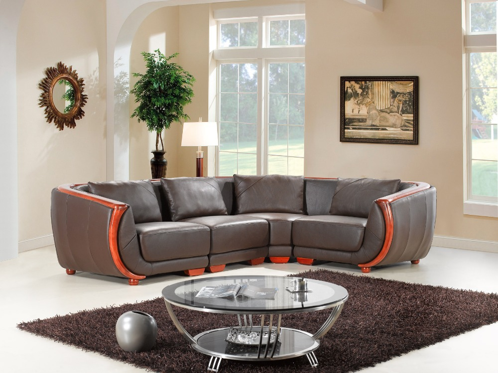 cow genuine leather sofa set living room furniture couch