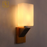 modern decorative led wall lamp wooden and glass PW004-in ...