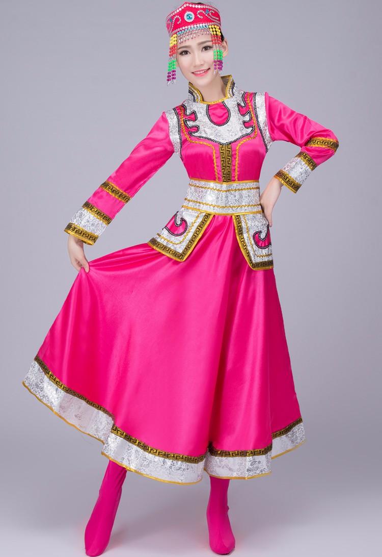 ⑧Azul chino minoría trajes para las mujeres trajes de baile ...