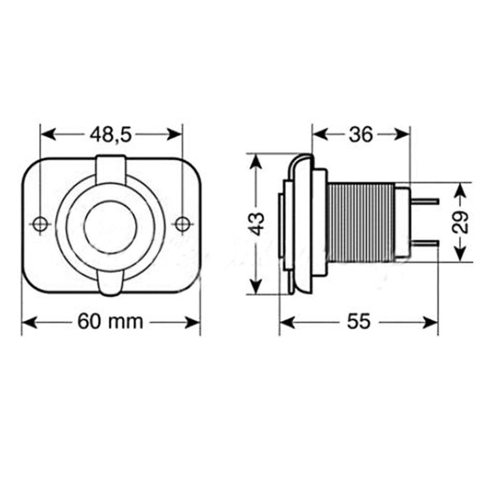 12V Car Lighter Socket Splitter Power Outlet Adapter 2 USB
