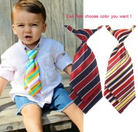 Baby Toddler Boy Necktie Tie kids Infant Stripe Necktie ...