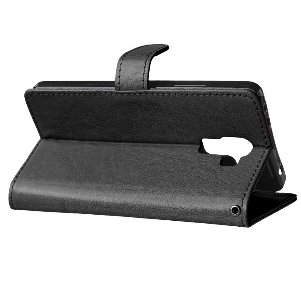 9304913e0f475 ②Designlife Odwróć PU Leather Wallet Case Stoiska dla Huawei Honor ...
