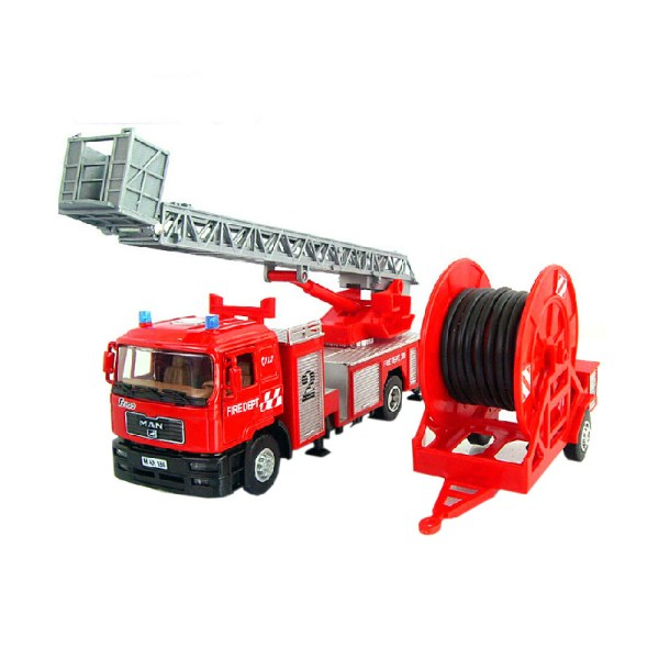 Alloy Diecast Fire rescue Truck Model 140 Double pipe
