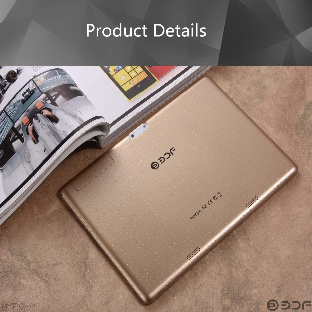 Octa-Quad 10 אינץ אנדרואיד Tablet Pc 4GB RAM 32GB ROM IPS LCD הכפול כרטיס ה-SIM טלפון הכרטיסיה טלפון אנדרואיד 5.1 מחשב לוח 7 8 9