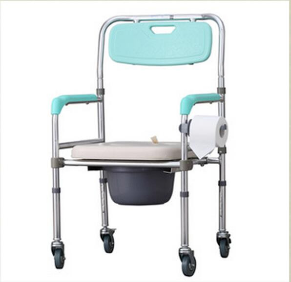 ᗐPortable Mobile toilet chairs Height-Adjustable Folding Elderly ...