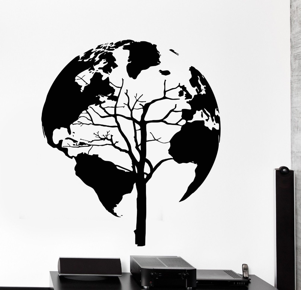 Popular Silhouette Tree Wall Decal