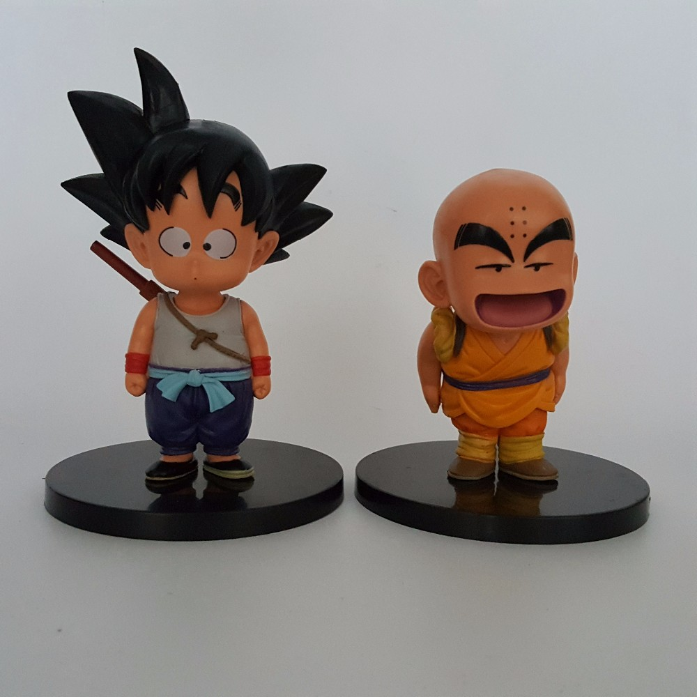 Click Here Dragon Ball Z Son Goku Krillin Super Saiyan Action Figures Anime GT Model Toy Young 2pcs Set
