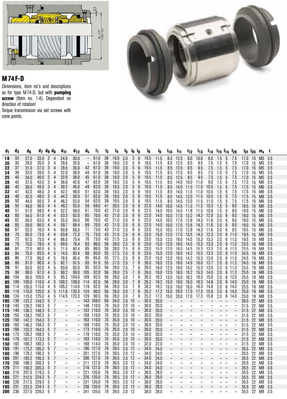 M74d 38 G9 Burgmann Mcanique Joints M74 D Double Audio Amplifier Circuit Stk060
